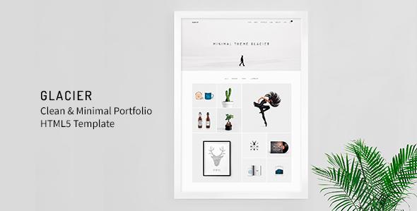 Glacier - Clean & Minimal Portfolio HTML5 Template - Portfolio Creative