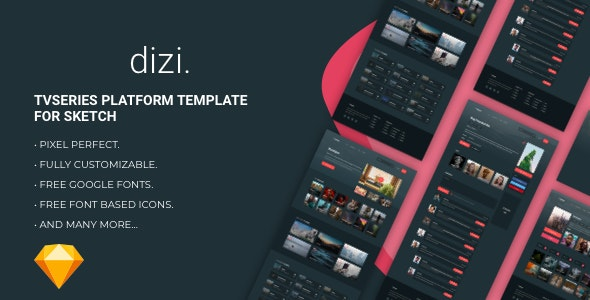 Dizi - TV Series Platform Template - Sketch UI Templates