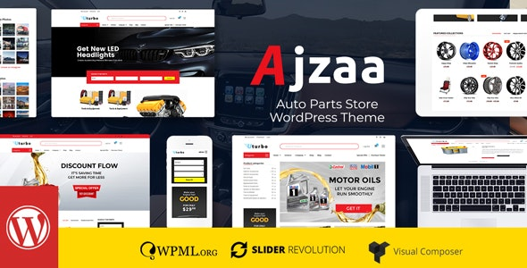 Ajzaa - Auto Parts Store WordPress Theme - WooCommerce eCommerce