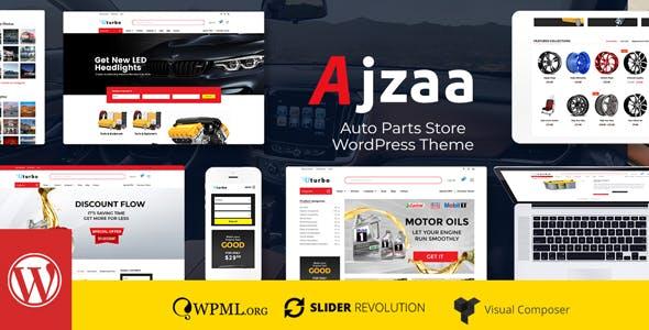 Ajzaa - Auto Parts Store WordPress Theme