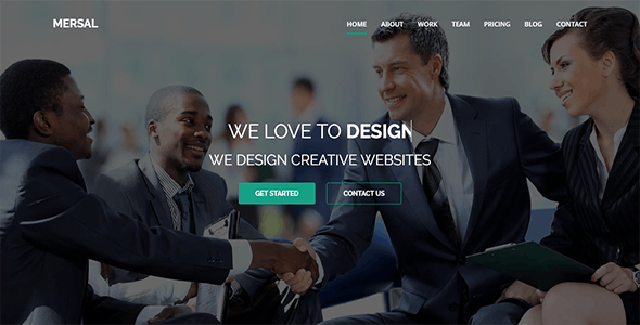 Mersal - One Page MultiPurpose WordPress Theme - Business Corporate