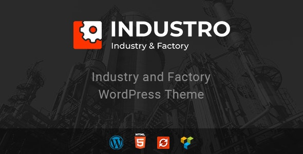 Industro - Industry & Factory WordPress Theme - Business Corporate