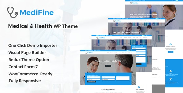 MediFine - Health and Medical WordPress Theme - Health & Beauty Retail