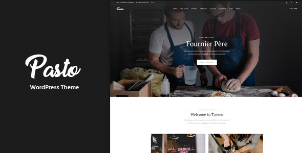 Pasto - Restaurant & Cafe Responsive WordPress Theme - Restaurants & Cafes Entertainment