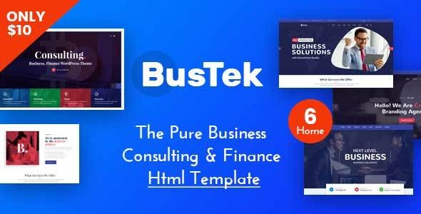 Bustek - Pure Business Consulting & Finance HTML Template - Business Corporate
