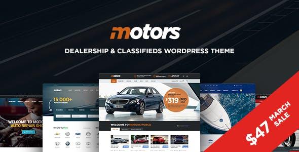 Motors - Automotive, Car Dealership, Car Rental, Auto, Classified Ads, Listing WordPress Theme