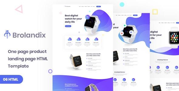 Brolandix  - Product Landing HTML Template - Marketing Corporate