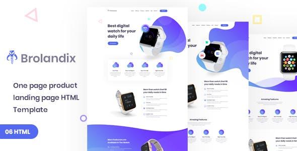 Brolandix  - Product Landing HTML Template