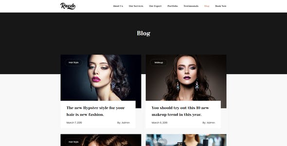 Razzle - Beauty Salon HTML Template