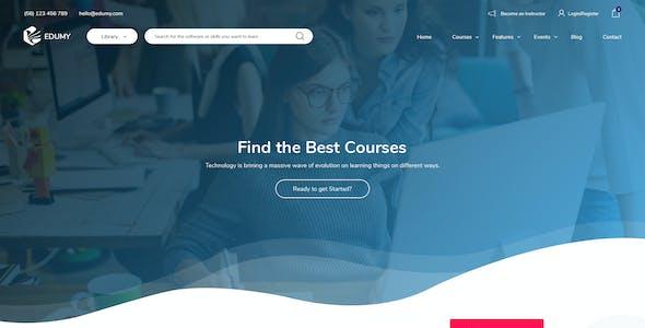 Edumy - LMS Online Education Course & School PSD Template