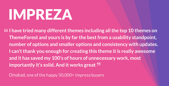 Impreza – Multi-Purpose WordPress Theme - Creative WordPress
