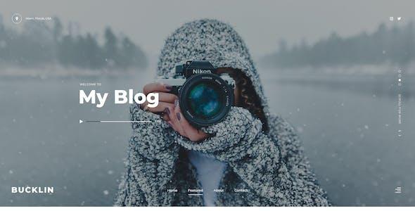Bucklin - Blog PSD Template