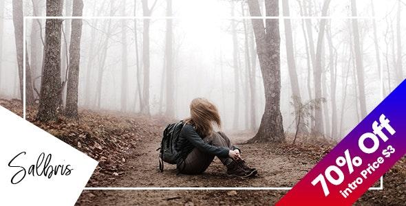 Salbris - Personal Blog PSD Template - Personal Photoshop
