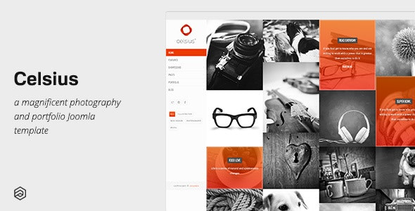 Celsius - Photography & Video Portfolio Responsive Joomla Template - Portfolio Creative