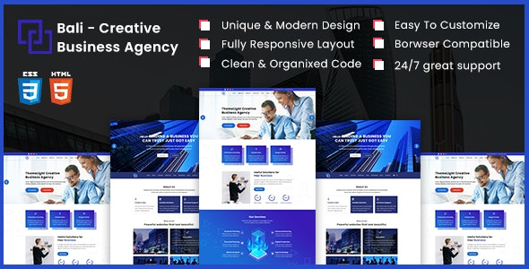 Bali - Creative Business Agency HTML5 Template - Business Corporate