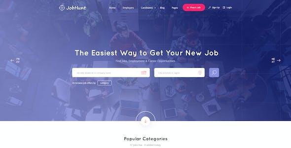 JobHunt - Job Board HTML Template