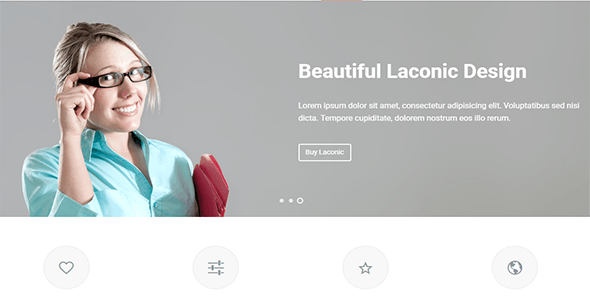 Laconic - Modern Business/Corporate WordPress Theme - Corporate WordPress