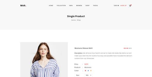 Mek - WooCommerce PSD Template
