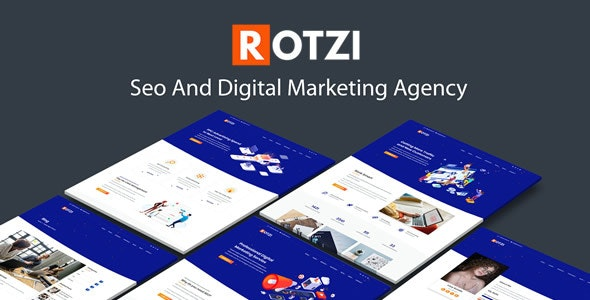 Rotzi - SEO and Digital Marketing HTML Template - Marketing Corporate