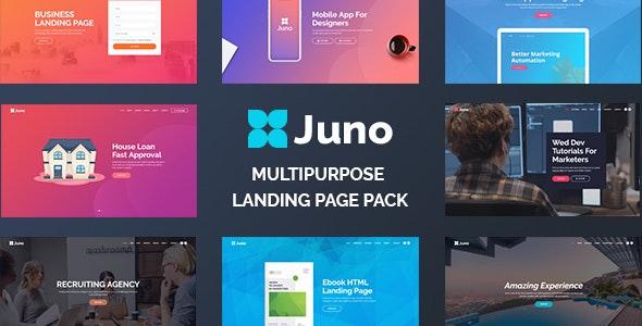 Juno - Multipurpose Landing Page Pack - Landing Pages Marketing