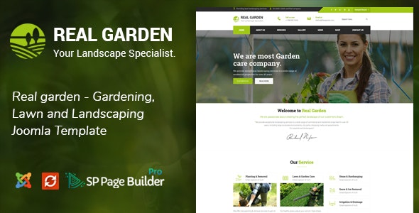 Real Garden - Gardening, Lawn and Landscaping Joomla Theme by JoomlaBuff