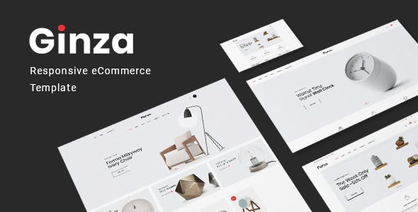 Ginza – Furniture eCommerce HTML Template - Shopping Retail
