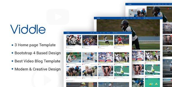 Viddle - Multipurpose Video Blog HTML5 Site Template
