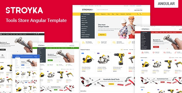 Stroyka - Tools Store Angular 10 eCommerce Template - Shopping Retail