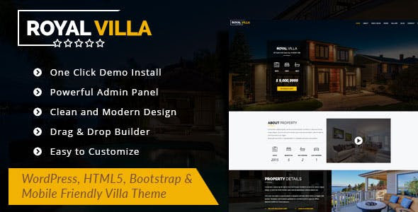 RoyalVilla - WordPress Theme for Single Property