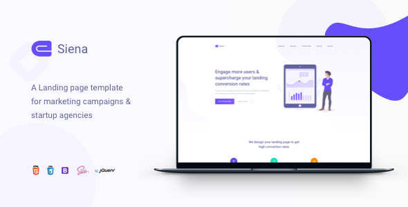 Siena - Marketing Landing Page Template - Creative Landing Pages