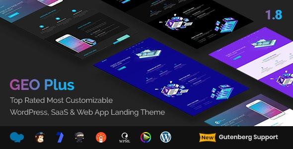 GEO Plus - WordPress SaaS & Web App Landing Page Theme - Software Technology