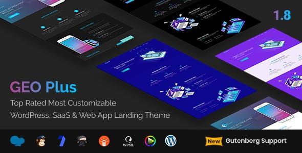 GEO Plus - WordPress SaaS & Web App Landing Page Theme