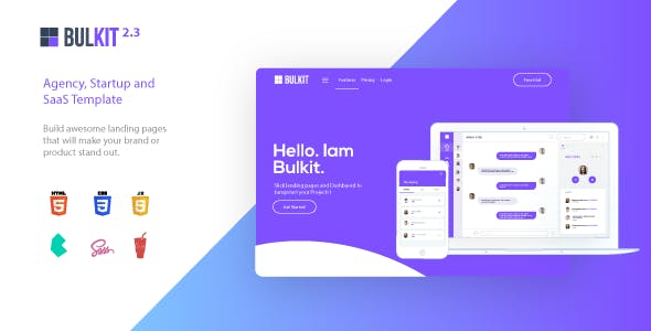 Bulkit - Agency, Startup and SaaS template by cssninjaStudio