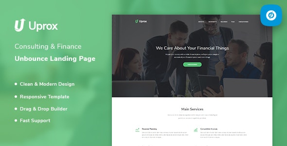Uprox - Consulting & Finance Unbounce Landing Page Template - Unbounce Landing Pages Marketing