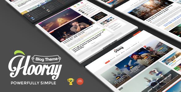 Hooray — Blog WordPress theme for Professional Writers - Personal Blog / Magazine