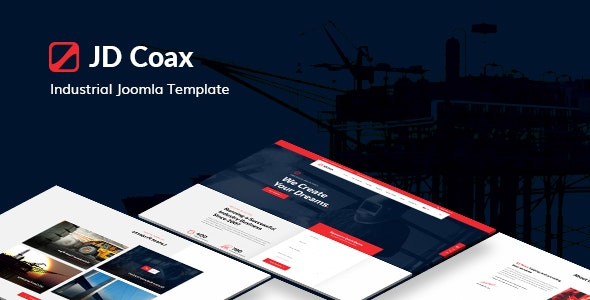 JD Coax - Industrial Joomla Template With Catalog Shop Integration - Joomla CMS Themes