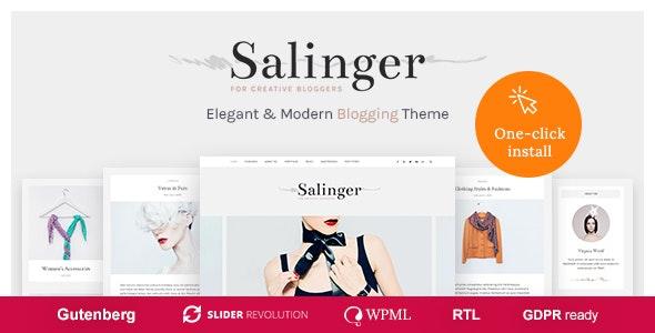 Salinger - Personal Blog & Portfolio WordPress Theme - Personal Blog / Magazine