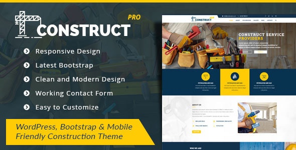 ConstructPro  - WordPress Theme for Construction and Renovation Services - Corporate WordPress