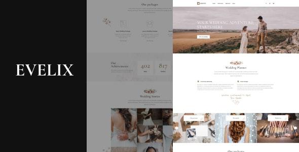 Evelix - Wedding Agency WordPress Theme - Wedding WordPress