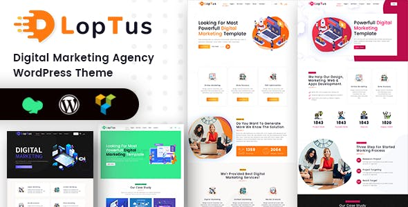 21+ Digital Agency WordPress Themes & Templates 2019 [ Download Now ]