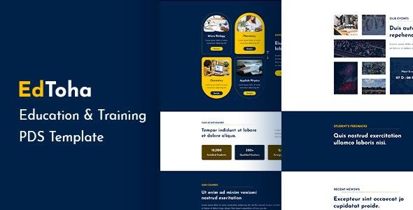 EdToha - Education & Training PSD Template. - Creative Photoshop