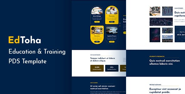 EdToha - Education & Training PSD Template.
