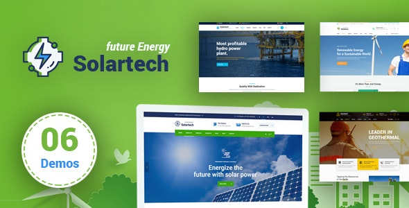 Solar Tech - Renewable Energy HTML Template - Technology Site Templates