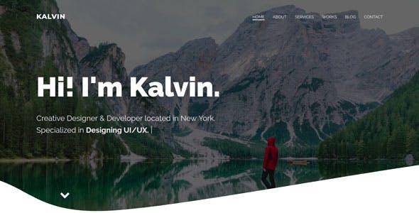 Kalvin - Responsive Bootstrap 4 One Page Portfolio Template