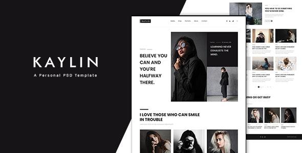 Kaylin - Personal Blog PSD Template - Personal PSD Templates