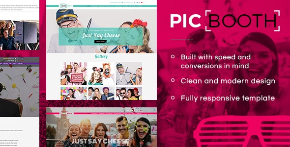 Picbooth - Complete Photobooth, Photography HTML Site Template - Site Templates
