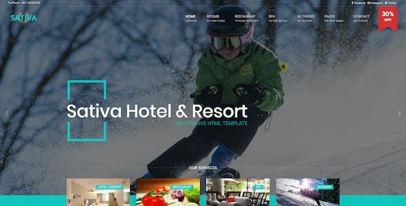 sativa - Hotel & Resort HTML Template