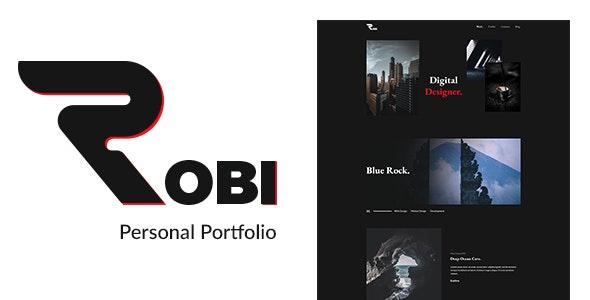 Robi - Agency and Personal Portfolio PSD - Portfolio Creative