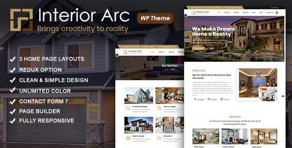 Interior Arc - Architecture WordPress Theme - Business Corporate