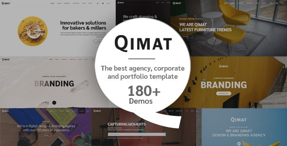QIMAT - Creative Agency, Corporate and Portfolio Multi-purpose Template - Creative Site Templates